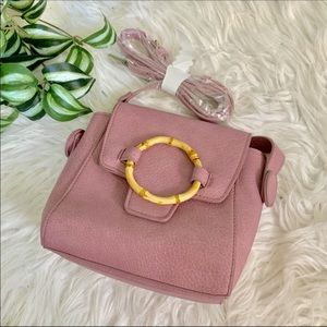 Free People Bags - Free People   Carrie Lilac Bamboo Circle Crossbody